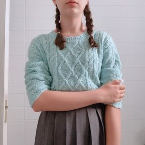 turquoise winter sweater